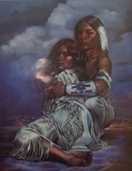 Full Diamond painting Native Americans 40 x 50 cm