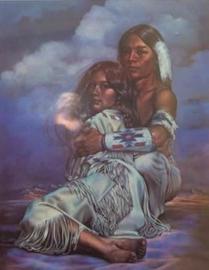 Full Diamond Painting Native Americans 50 x 70 cm