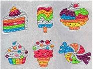 Sticker Diamond Painting ijs taart en snoeperds