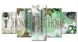 Full diamond painting Home Sweet Home vijfluik