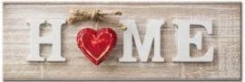Full Diamond Painting  Home rood hartje 20 x 60 cm
