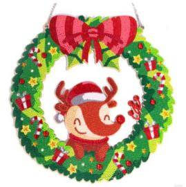 Kerstkrans hertje