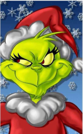 Full Diamond Painting Kerstgrinch 30 x 40 cm