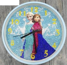Diamond Painting Klok: Frozen 30 x 30 cm