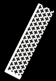 Diamond painting latje - heerser voor Vierkante steentjes