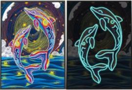 lichtgevende diamond painting dolfijnen