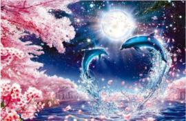 Full diamond painting Dolfijnen 55 x 70 cm