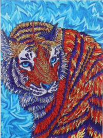 Speciale Painting  tijger 30 x 40 cm
