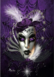 Full Diamond painting Venetiaans masker 30 x 40 cm