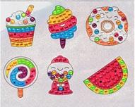 Sticker Diamond Painting ijsjes en snoeperds