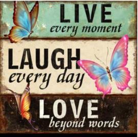 Full Diamond Painting Live Love Laugh 40 x 40 cm