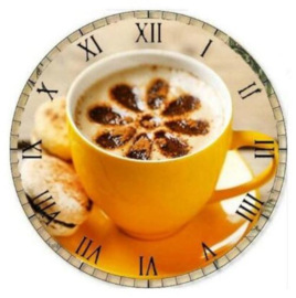 klok met Koffie 30 x 30 cm