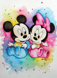 Full diamond painting Baby Minnie & Mickey Mouse 25 x 30 cm