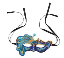 Diamond painting carnavalmasker Pauw