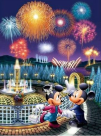 Full Diamond Painting Mickey Mouse Vuurwerk 30 x 40 cm