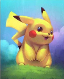 Diamond painting Pikachu 30 x 40 cm