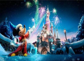 Full diamond painting  Disney kasteel Mickey Mouse 40 x 60cm