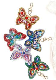 set sleutelhangers vlinders
