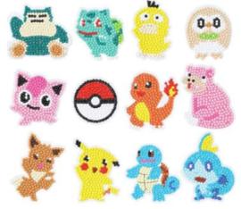 Sticker Diamond Painting Pokémon 12 stickers