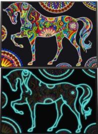 lichtgevende diamond painting paard
