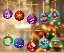 setje kerstbalhangers voor in de kerstboom 10st