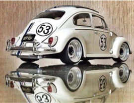 Full Diamond painting witte  VW kever Herbie 30 x 40 cm