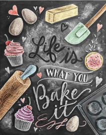 Full diamond painting  Life is what you bake it 30 x 40 cm