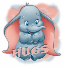 Full Diamond painting  Dumbo hugs 30 x 30 cm