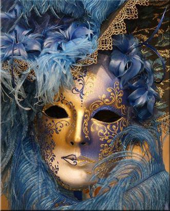 Full Diamond Painting Venetiaanse masker 30 x 40 cm