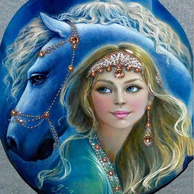 Partial diamond painting   30 x 30 cm