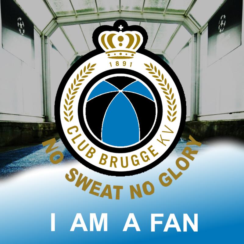 Full Diamond Painting Club Brugge I am a fan 40 x 40