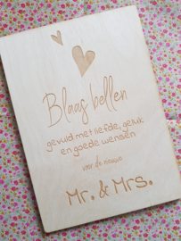 Tekstbord | bruiloft inclusief symbolen