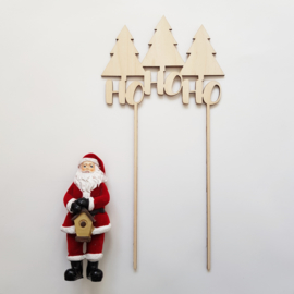 Kersttopper 'Ho ho ho'