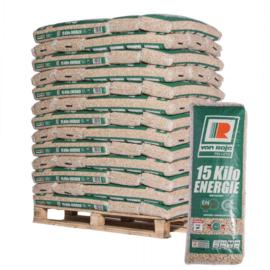 pellets per pallet van 65 zakken