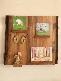 kalender olijf essen hout met cijfers