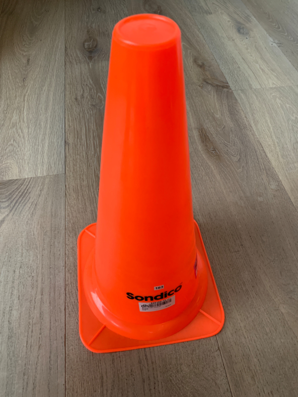 grote oranje pion set van 2