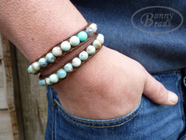 Wrap armband met leer BOHO H026