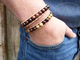 Wrap armband met leer BOHO H028