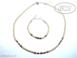 Set armband en collier BR 108 - COL 109