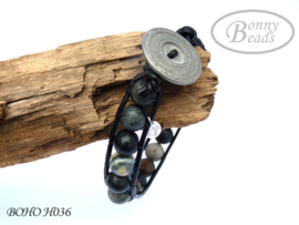 Armband met leer BOHO H036