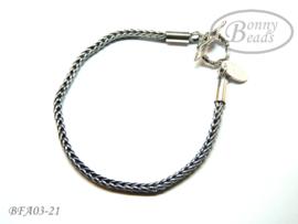 Antiek zilveren wissel armband 21 cm