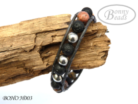 Armband met leer BOHO H003