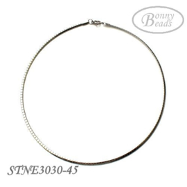 RVS omega spang / ketting STNE3030-45 cm