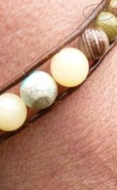 Armband met leer BOHO H034