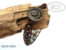 Armband met leer BOHO H002