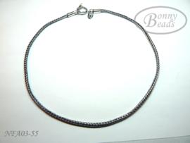Antiek zilveren wissel collier 55 cm