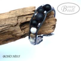 Armband met leer BOHO H035