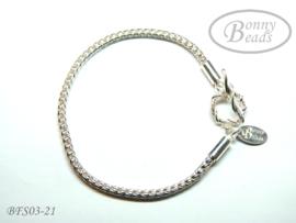 Zilveren wissel armband 21 cm