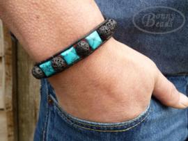 Armband met leer BOHO H031