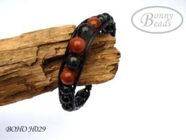 Armband met leer BOHO H029